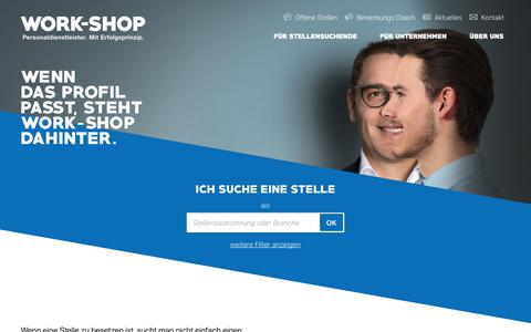 Screenshot of Home Page work-shop.ch - work-shop - captured Oct. 18, 2018