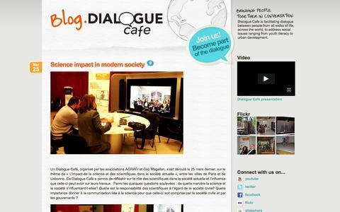 Screenshot of Blog dialoguecafe.org - Dialogue Cafe - captured Sept. 30, 2014