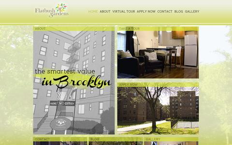 Screenshot of Home Page flatbushgardens.net - Flatbush Gardens - Brooklyn Apartments - Brooklyn, NY - captured Oct. 6, 2014
