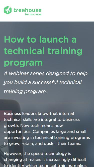 How to launch a technical training program   Treehouse