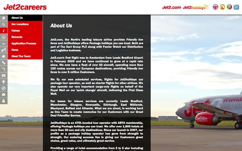 Screenshot of About Page jet2careers.com - About Us - captured Sept. 25, 2014