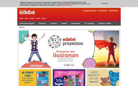 Screenshot of Home Page edebe.com - Grupo Edebé: Libros, Educación, Literatura Infantil y Juvenil, Audiovisuales para niños y jóvenes - captured Sept. 27, 2018
