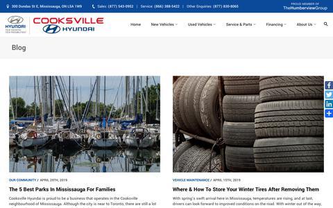 Screenshot of Blog cooksvillehyundai.com - Blog | Cooksville Hyundai in Mississauga - captured May 19, 2019