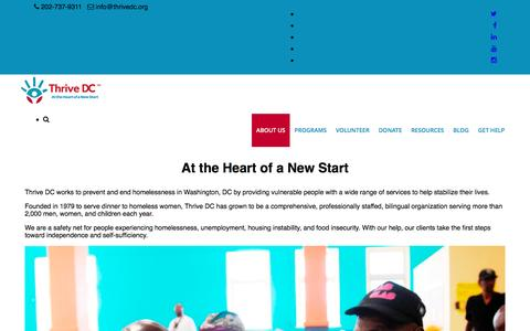 Screenshot of About Page thrivedc.org - About Us – Thrive DC - captured Dec. 23, 2016