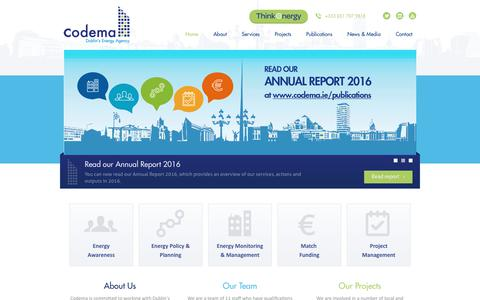 Screenshot of Home Page codema.ie -   Energy Efficiency Agency Dublin   Codema - captured Aug. 12, 2017