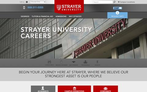 Screenshot of Jobs Page strayer.edu - Strayer University Careers | Strayer University - captured Oct. 2, 2015