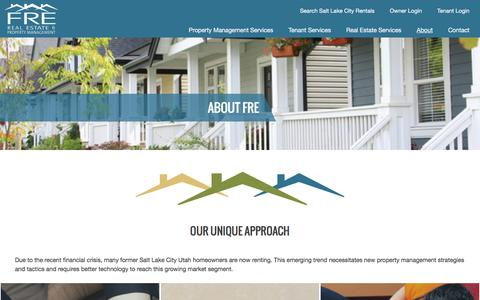 Screenshot of About Page frepropertymanagement.com - Property Management Utah - FRE Property Management - captured Aug. 3, 2016