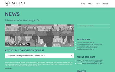 Screenshot of Press Page pencillati.com - News - Pencillati - captured May 15, 2017