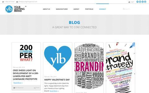 Screenshot of Blog yourlightingbrand.com - Your Lighting Brand  | Blog - captured Oct. 28, 2014