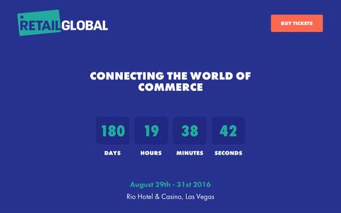 Screenshot of Home Page retailglobal.com - Retail Global connecting the world of commerce - captured March 1, 2016