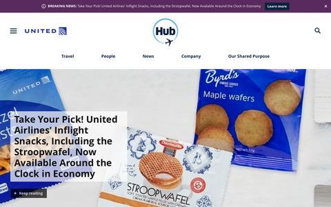 Screenshot of Press Page united.com - United Hub - Newsroom - captured July 3, 2019
