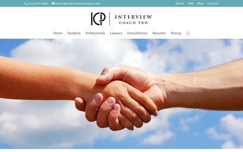 Screenshot of Contact Page interviewcoachpro.com - Contact - Interview Coach Pro - captured May 27, 2017