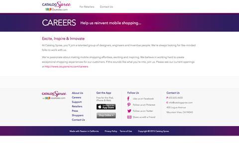 Screenshot of Jobs Page catalogspree.com - Careers | Catalog Spree - captured June 16, 2015