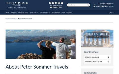 Screenshot of About Page petersommer.com - About us | Peter Sommer Travels - captured Sept. 27, 2018