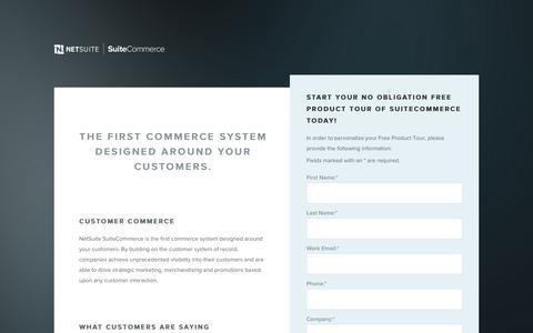 Screenshot of Trial Page netsuite.com - Ecommerce, Ecommerce Software, E-commerce — NetSuite SuiteCommerce - captured Jan. 14, 2017