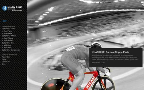 Screenshot of Home Page khanbike.com - Carbon Bicycle Parts - Khan Bike - captured Jan. 25, 2015
