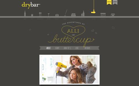 Screenshot of Blog thedrybar.com - The Adventures of Alli and Buttercup – Drybar's Blow Out Blog! - captured June 16, 2015