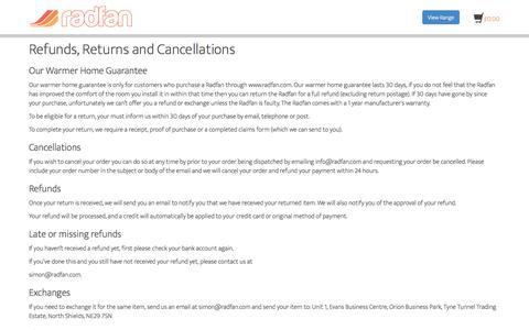 Screenshot of Terms Page radfan.com - Terms – Radfan - captured Oct. 27, 2014