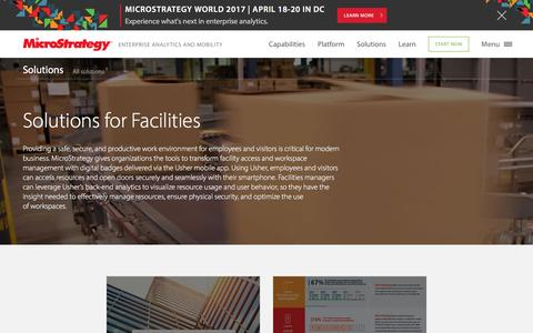 Analytics Solutions for Facilities | MicroStrategy