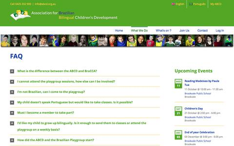 Screenshot of FAQ Page abcd.org.au - FAQ - ABCD - captured Oct. 6, 2017