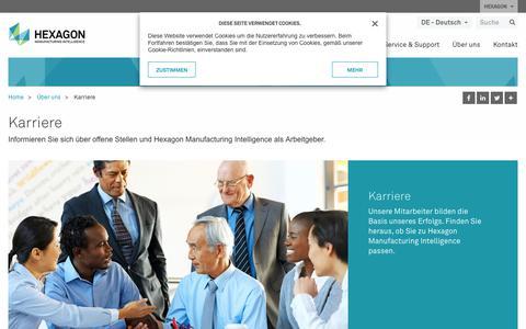 Screenshot of Jobs Page hexagonmi.com - Karriere | Hexagon Manufacturing Intelligence - captured Nov. 25, 2017