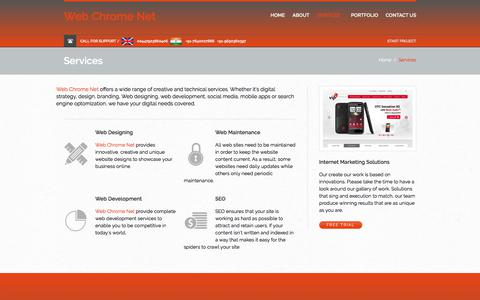 Screenshot of Services Page Trial Page webchromenet.com - Website Design Services India, Web Development, Ecommerce, Graphic Design services India - captured July 1, 2017