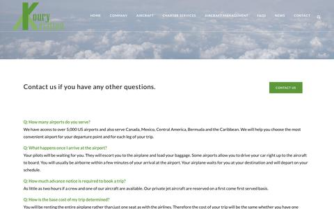 Screenshot of FAQ Page kouryprivatejetcharter.com - Facts & Commonly asked questions about Koury Private Jet Charter - captured Oct. 16, 2018