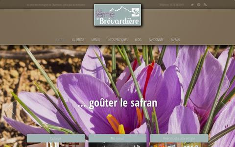 Screenshot of Home Page brevardiere.fr - Accueil › La ferme de BrévardièreLa ferme de Brévardière ‹ Au coeur des montagnes de Chartreuse, à deux pas du monastère. - captured Sept. 19, 2014