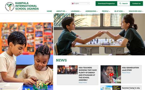 Screenshot of Press Page kisu.com - News | Kampala International School Uganda - captured Oct. 14, 2018