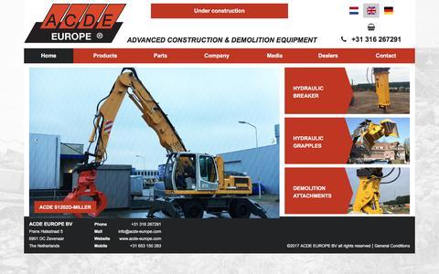 Screenshot of Home Page acde-europe.com - Home | ACDE - captured Oct. 6, 2017