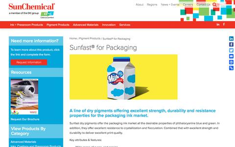 Sunfast® for Packaging | Sun Chemical