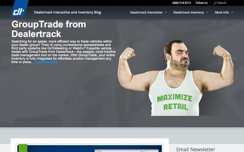 Screenshot of Blog dealertrack.com - Dealertrack Interactive and Inventory Blog - - captured Sept. 15, 2014