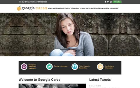 Screenshot of Home Page gacares.org - Welcome to Georgia Cares - captured Jan. 28, 2015