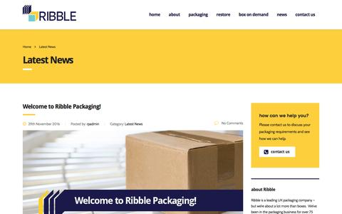 Screenshot of Press Page ribble-pack.co.uk - Latest News | Ribble Packaging | Cardboard Packaging Manufacture - captured Dec. 6, 2016