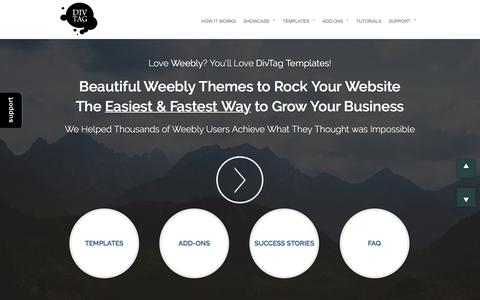 Screenshot of Home Page divtagtemplates.com - Premium Weebly Templates and Weebly Themes - captured June 27, 2017