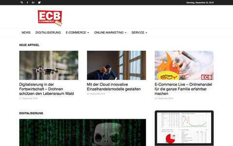 Screenshot of Home Page e-commerce-blog.de - E-Commerce | Digitalisierung | Online Marketing | ECB - captured Sept. 23, 2018