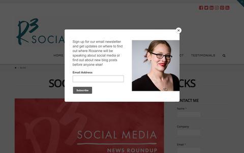 Screenshot of Blog r3socialmedia.com - Social Media Tips and Tricks, and Knowledge Bombs | R3 Social Media - captured Nov. 14, 2017