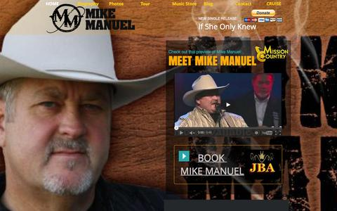 Screenshot of Home Page mikemanuel.com - Mike Manuel - captured Oct. 12, 2015