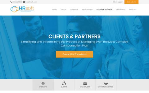 Screenshot of Case Studies Page hrsoft.com - Clients & Partners - HRsoft - captured June 23, 2018