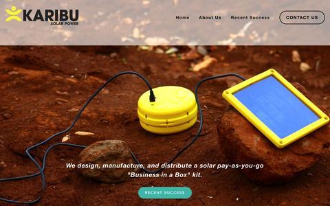 Screenshot of About Page karibusolar.com - About Us — KARIBU Solar Power - captured Feb. 12, 2016