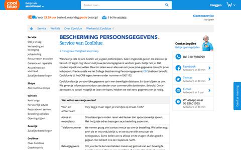 Screenshot of Privacy Page coolblue.nl - Bescherming persoonsgegevens - Coolblue - alles voor een glimlach - captured Aug. 13, 2017