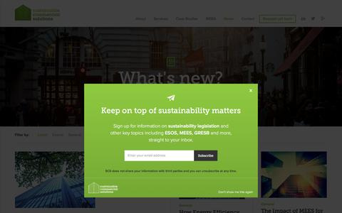 Screenshot of Press Page sustainablecommercialsolutions.co.uk - News - Sustainable Commercial Solutions - captured Jan. 13, 2016