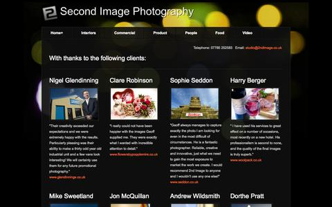 Screenshot of Testimonials Page 2ndimage.co.uk - Testimonials for 2nd Image Photography, interiors, products, people, food, commerce & industry. Cumbria, Scotland, UK - 2nd Image Photography - captured Oct. 27, 2014
