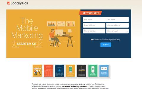 Screenshot of Landing Page localytics.com - The Mobile Marketing Starter Kit - captured Sept. 30, 2017
