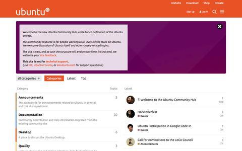Ubuntu Community Hub