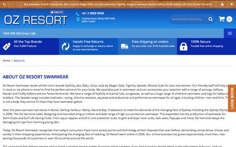 Screenshot of About Page ozresort.com.au - About Us - captured Dec. 1, 2016