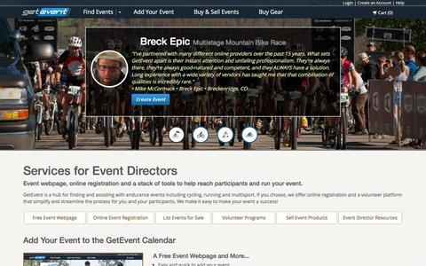 Screenshot of Home Page getevent.com - Event Calendar for Running, Cycling, Triathlon & Winter Races | GetEvent.com - captured Jan. 30, 2016