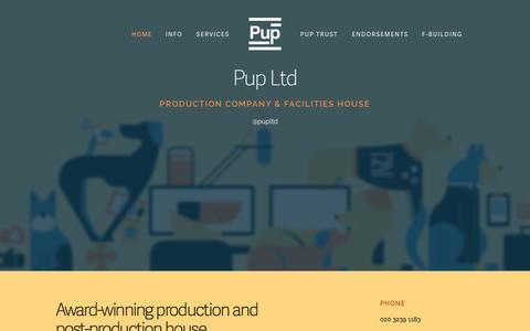 Screenshot of Services Page puplimited.com - Pup Ltd - captured Nov. 2, 2014