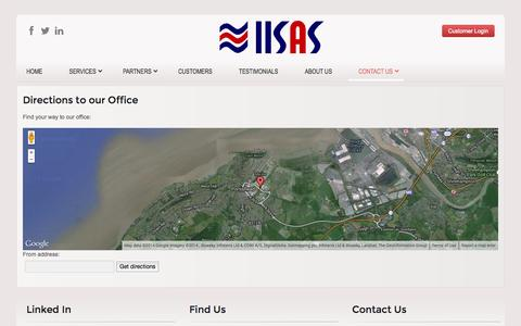 Screenshot of Maps & Directions Page iisas.co.uk - Directions - captured Oct. 3, 2014