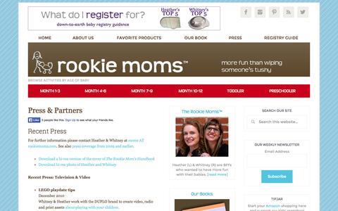 Screenshot of Press Page rookiemoms.com - Rookie Moms –   Press & Partners - captured Oct. 26, 2014